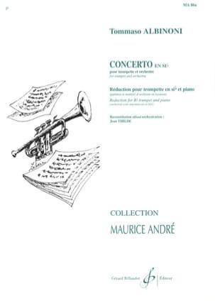 Concerto En Sib ALBINONI Partition Trompette - laflutedepan
