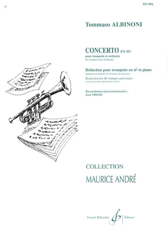 Concerto En Sib - ALBINONI - Partition - Trompette - laflutedepan.com