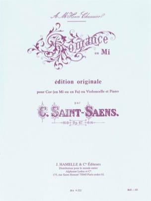 Romance en Mi opus 67 SAINT-SAËNS Partition Cor - laflutedepan