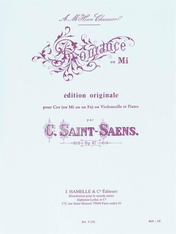 Romance en Mi opus 67 - SAINT-SAËNS - Partition - laflutedepan.com