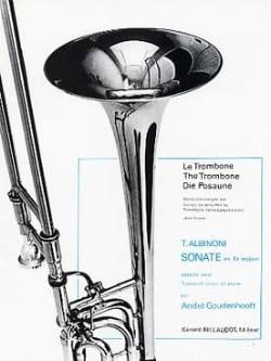 Sonate En Fa Majeur ALBINONI Partition Trombone - laflutedepan