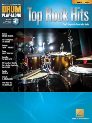 Drum Play-Along Volume 49 - Top Rock Hits Partition laflutedepan