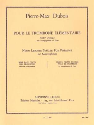 Pour le Trombone Elémentaire - 9 pièces Pierre-Max Dubois laflutedepan
