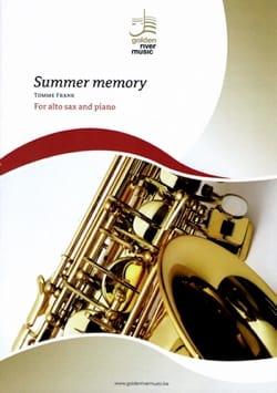Summer memory TOMME Frank Partition Saxophone - laflutedepan