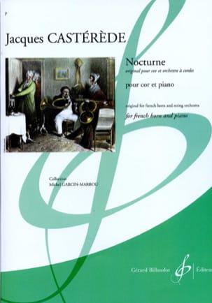 Nocturne Jacques Castérède Partition Cor - laflutedepan