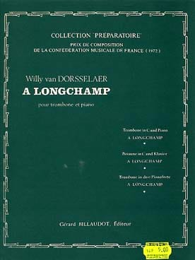 A Longchamp Dorsselaer Willy Van Partition Trombone - laflutedepan