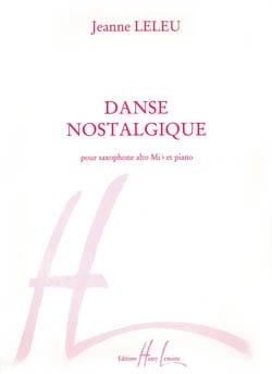 Danse Nostalgique Jeanne Leleu Partition Saxophone - laflutedepan