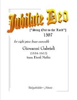 Jubilate Deo GABRIELI Partition Ensemble de cuivres - laflutedepan