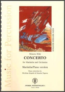 Concerto For Marimba And Orchestra Minoru Miki Partition laflutedepan