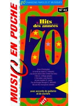 Music en poche N° 43 - Hits Des Années 70 Partition laflutedepan