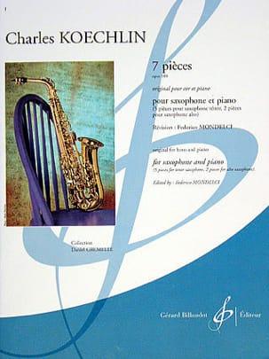 7 Pièces Charles Koechlin Partition Saxophone - laflutedepan