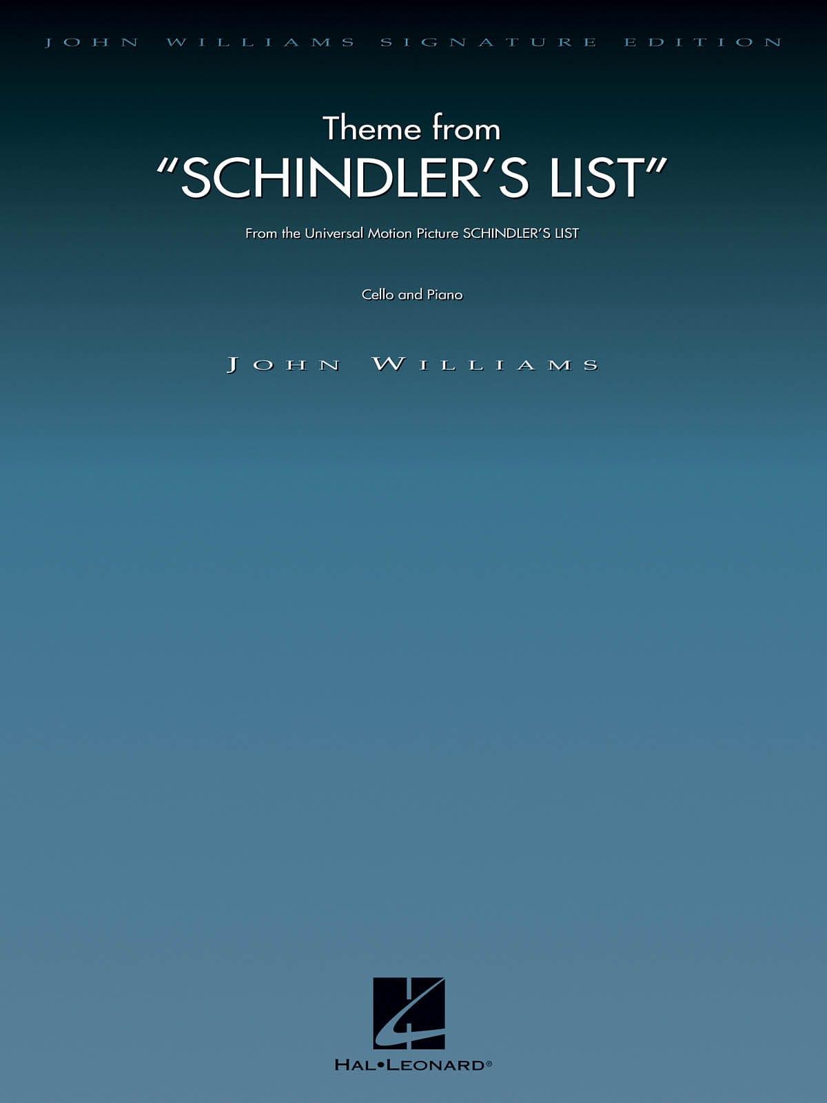 La Liste de Schindler - Violoncelle - John Williams - laflutedepan.com
