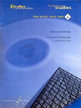 15 Etudes de concours Patrice Sciortino Partition Tuba - laflutedepan