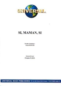 Si Maman Si France Gall Partition Chanson française - laflutedepan