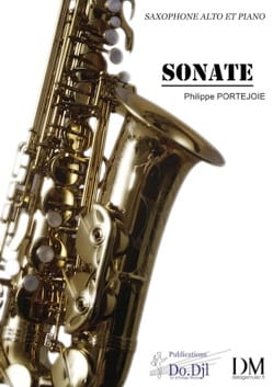 Sonate Philippe Portejoie Partition Saxophone - laflutedepan