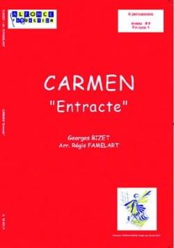 Carmen Entracte BIZET Partition Ensemble de percussions - laflutedepan