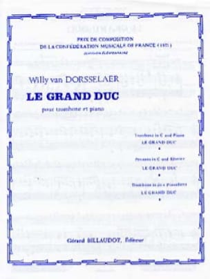 Le Grand Duc - Dorsselaer Willy Van - Partition - laflutedepan.com