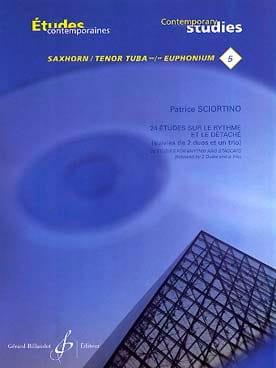 24 Etudes sur le rythme et le détache Patrice Sciortino laflutedepan