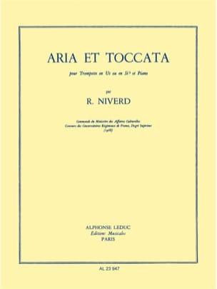 Aria Et Toccata Raymond Niverd Partition Trompette - laflutedepan