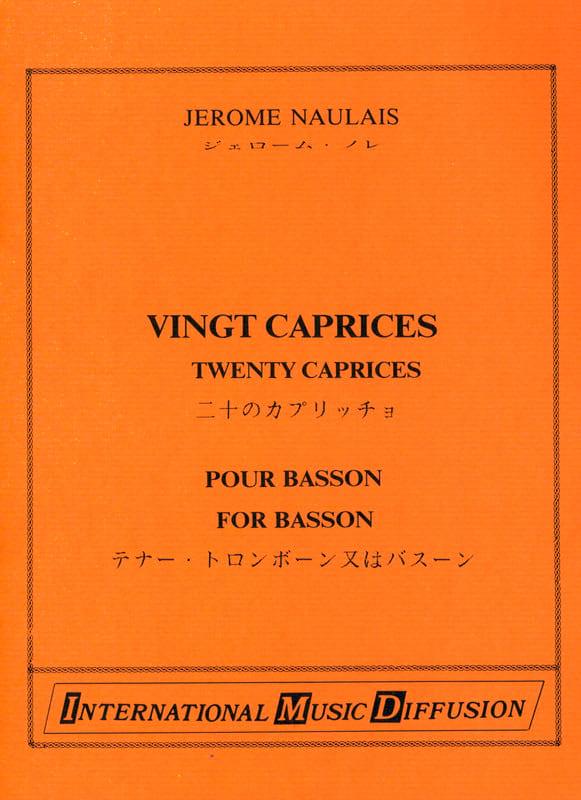 20 Caprices - Jérôme Naulais - Partition - Trombone - laflutedepan.com