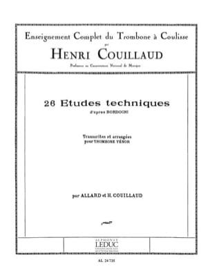 26 Etudes Techniques d' Après Bordogni Henri Couillaud laflutedepan