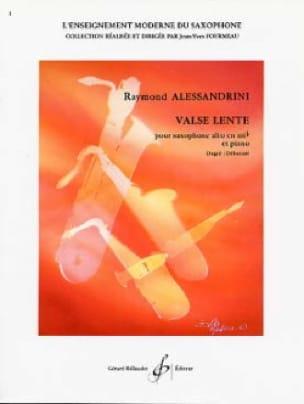 Valse Lente - Raymond Alessandrini - Partition - laflutedepan.com