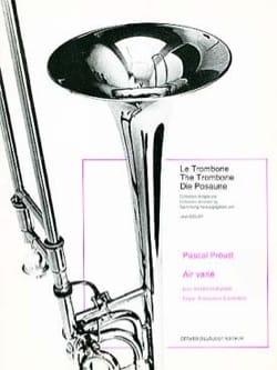 Air varié Pascal Proust Partition Trombone - laflutedepan