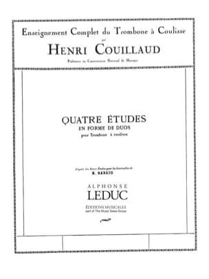 4 Etudes en forme de duos Henri Couillaud Partition laflutedepan