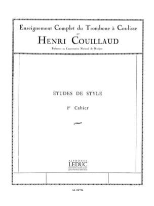 Etudes de style volume 1 Henri Couillaud Partition laflutedepan