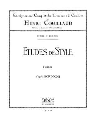 Etudes de Style volume 2 Henri Couillaud Partition laflutedepan