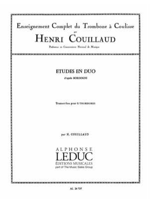 Etudes en duo d'après Bordogni Henri Couillaud Partition laflutedepan