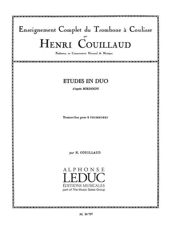 Etudes en duo d'après Bordogni - Henri Couillaud - laflutedepan.com