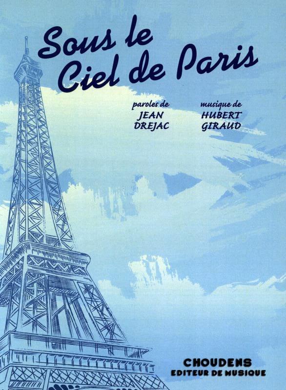 Sous le Ciel de Paris - Hubert Giraud - Partition - laflutedepan.be