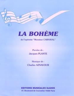 La Boheme Charles Aznavour Partition Chanson française - laflutedepan