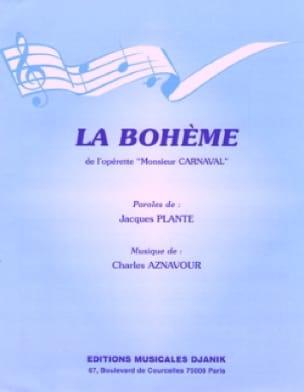 La Boheme - Charles Aznavour - Partition - laflutedepan.com