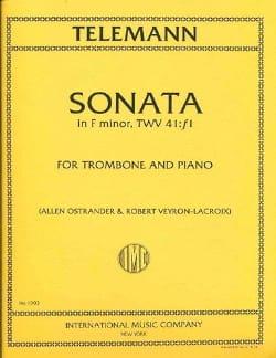 Sonata In Fa Minor, TWV 41:f1 TELEMANN Partition laflutedepan