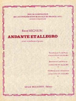 Andante Et Allegro René Mignion Partition Trombone - laflutedepan