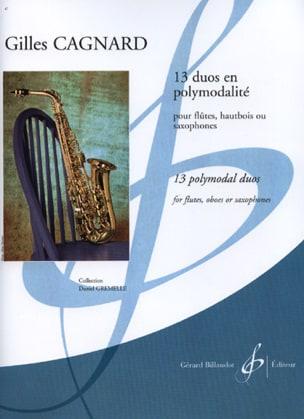 13 Duos En Polymodalité - Gilles Cagnard - laflutedepan.com