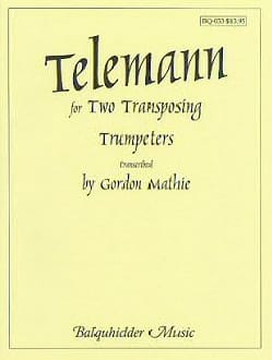 Duets for Two Transposing Trumpeters - TELEMANN - laflutedepan.com