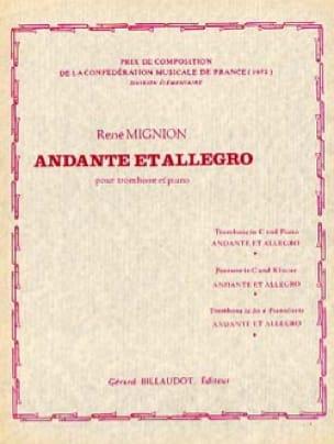 Andante Et Allegro - René Mignion - Partition - laflutedepan.com