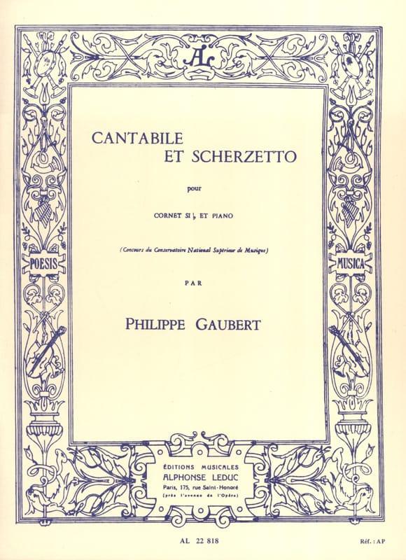 Cantabile et Scherzetto - Philippe Gaubert - laflutedepan.com