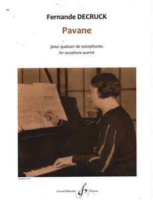 Fernande Decruck - Pavane - Partition - di-arezzo.fr