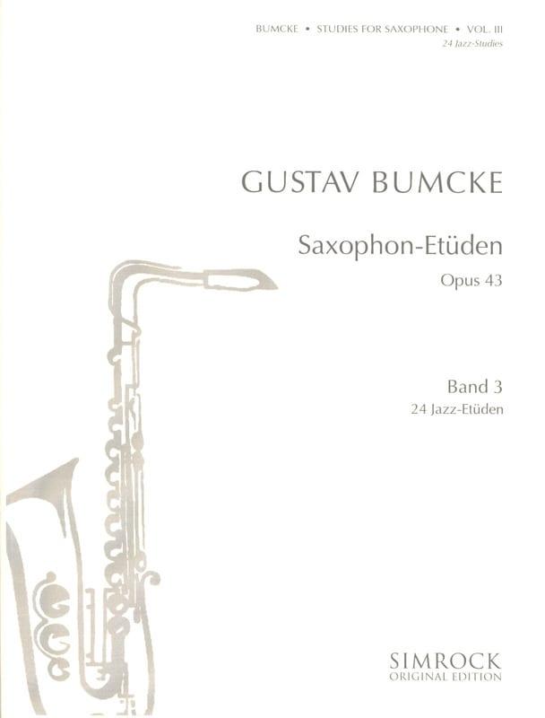 24 Etudes - Volume 3 - Gustav Bumcke - Partition - laflutedepan.com