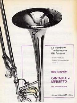 Cantabile et Minuetto René Mignion Partition Trombone - laflutedepan