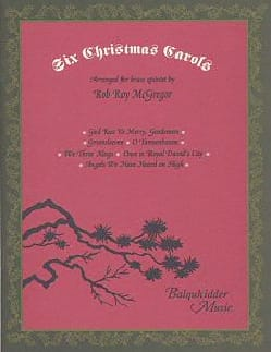 Six Christmas Carols for Brass Quintet Traditionnel laflutedepan