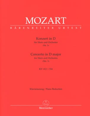 Concerto N° 1 In D Major KV 412 + 514 MOZART Partition laflutedepan