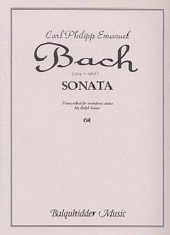 Sonata Carl Philipp Emanuel Bach Partition Trombone - laflutedepan
