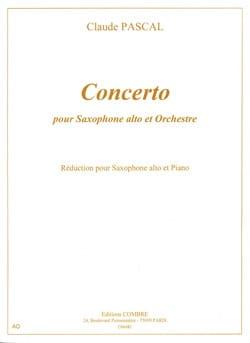 Concerto Claude Pascal Partition Saxophone - laflutedepan