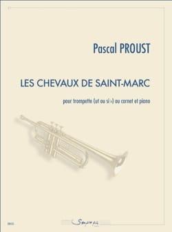 Les chevaux de Saint-Marc Pascal Proust Partition laflutedepan