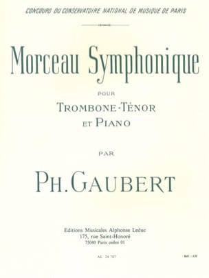 Morceau Symphonique Philippe Gaubert Partition Trombone - laflutedepan